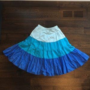 Girls Lined Ombré Twirl Skirt